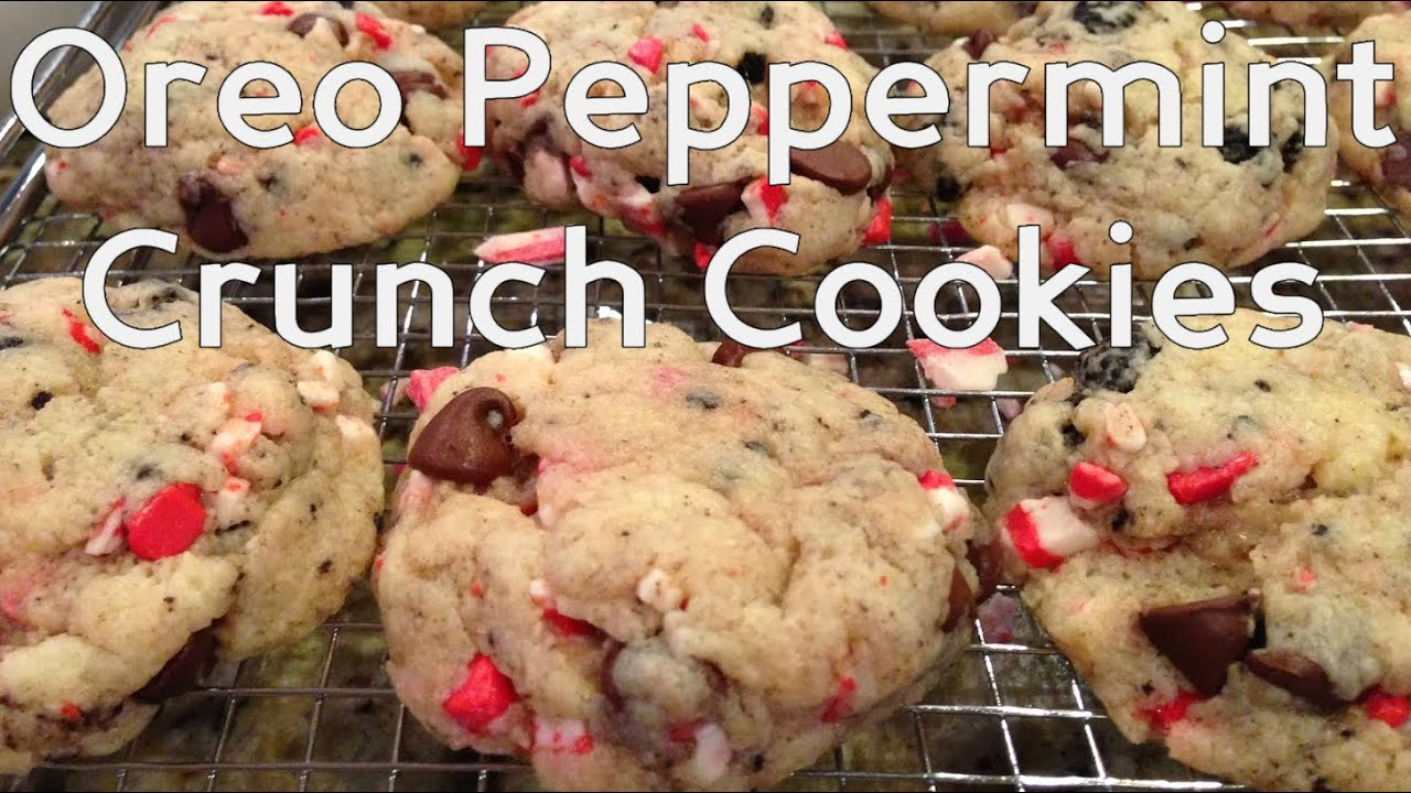 Oreo Peppermint Crunch Cookies Christmas Baking Fast And Easy Holiday Cooking
