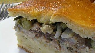 Рецепты пирогов. Скандинавский вкусный пирог с сельдью. Рецепт пирога с сельдью.Рыбный пирог  рецепт