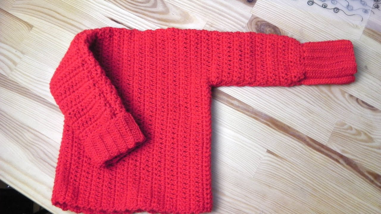 Sweater pullover crochet tutorial