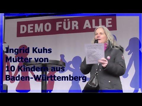 DEMO FÜR ALLE - Ingrid Kuhs - Mutter v. 10 Kindern - 28.2.16
