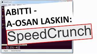 ABITTI - A-osan laskin: SpeedCrunch