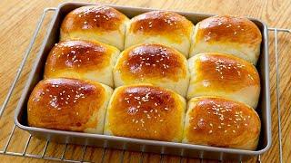 牛奶麵包做法:基礎配方,新手也能一次成功,鬆軟拉絲,簡單美味【夏媽廚房】