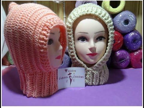 Pasamontañas o capuchas en crochet - YouTube 4aab2e90038