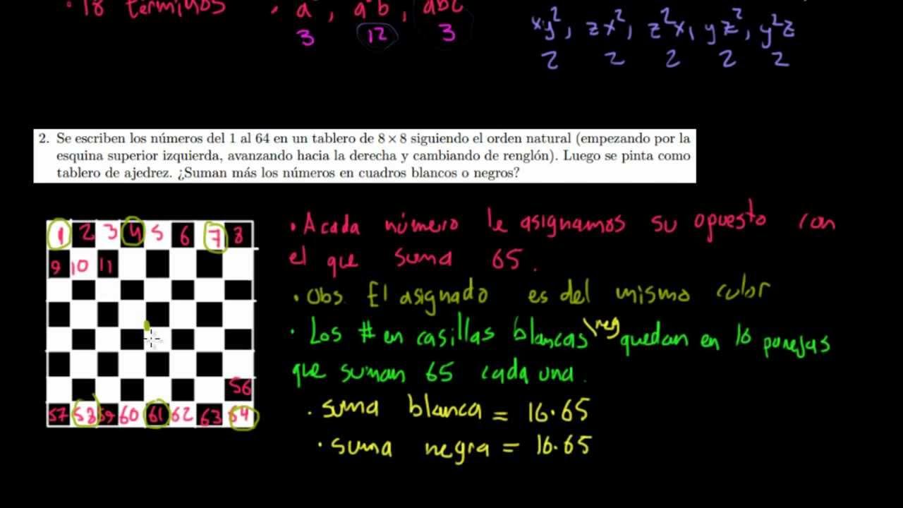 Simetría y tablero de 8x8 - YouTube