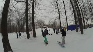 Обучение сноуборду Казань: Разминка эстафета