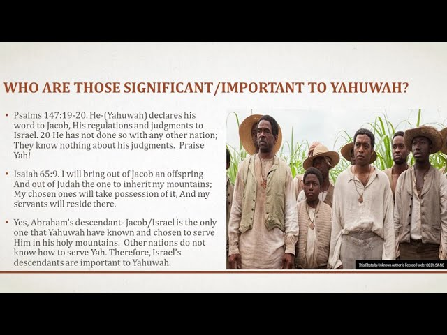 Yahuwah- God will deal with those who are insignificant to Him