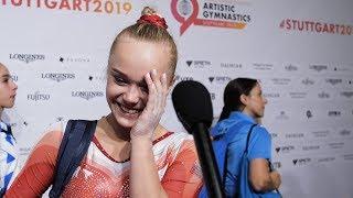 Angelina Melnikova (RUS) Interview 2019 World Championships - Podium Training