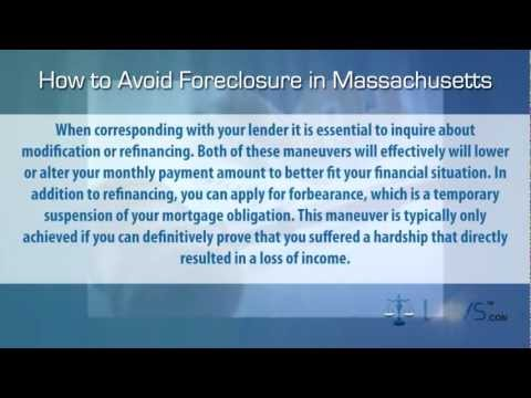 How to Stop Foreclosure in Massachusetts