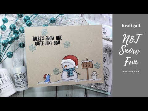 One Layer Cards with N&T Snow Fun