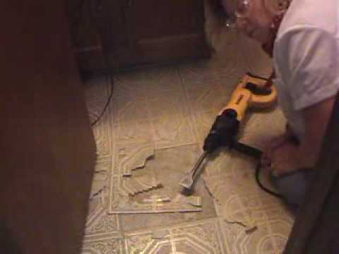 Removing Stubborn Linoleum Tile The Easy Way Youtube