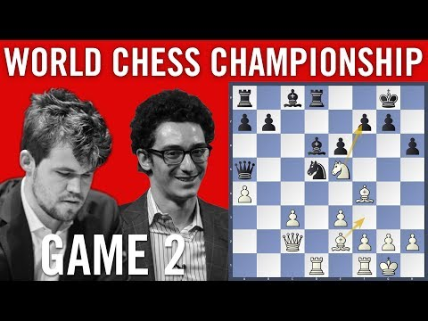 World Chess Championship 2018 Game 2: Magnus Carlsen vs Fabiano Caruana