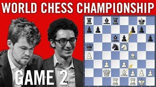World Chess Championship 2018 Game 2: Magnus Carlsen vs Fabiano Caruana