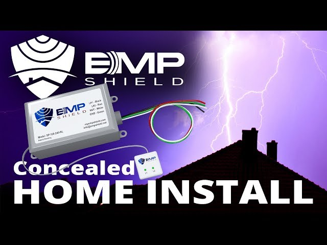 Concealed EMP Shield Installation - Home Electromagnetic Pulse and Lightning Protection
