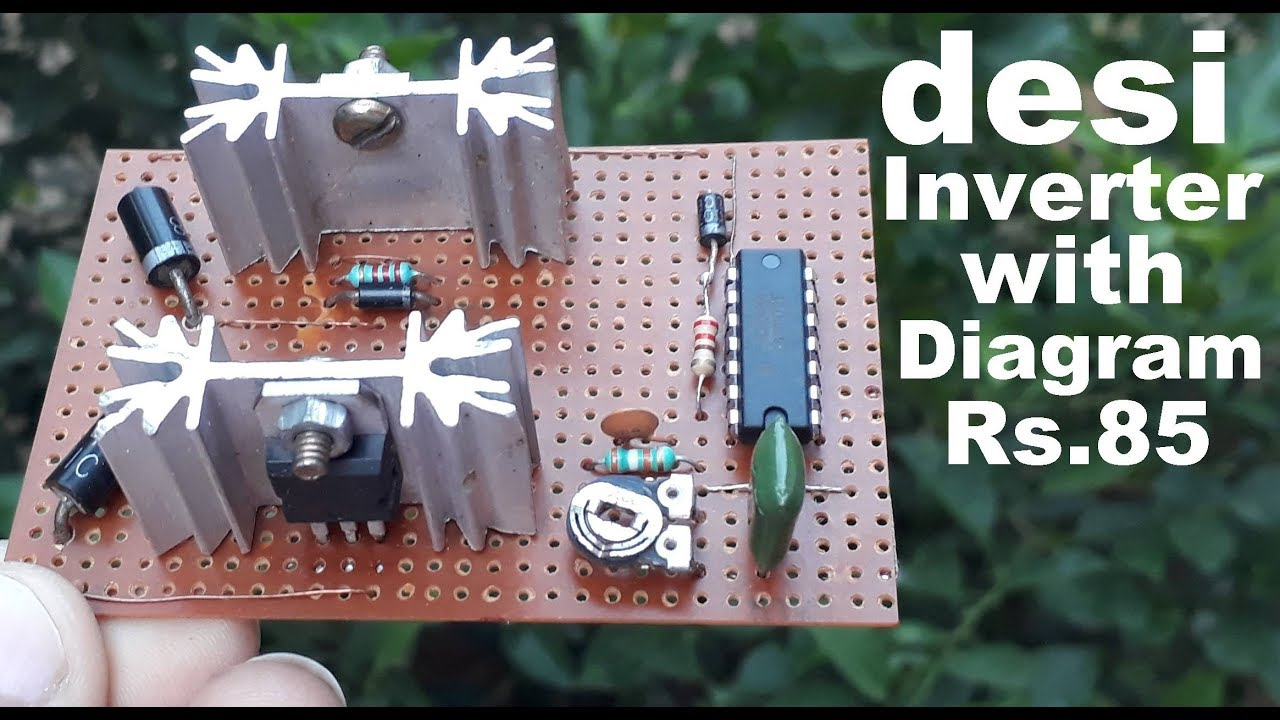 Inverter Board With Circuit Diagram Homemade Pure Sine Wave Using Ic 4047 Ready To Use