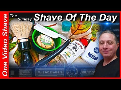 "Sunday Shave Of The Day #OVS WB ""For Gentlemens Use"" Straight Razor Shave, Bluewind Shave Shop #SOTD"