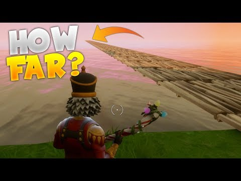 What Happens If You Build Outside Of The Map? | How Far Can You Build? (Fortnite Battle Royale)