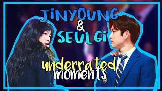 jinyoung and seulgi underrated moments (ft. jackson being a third wheel)