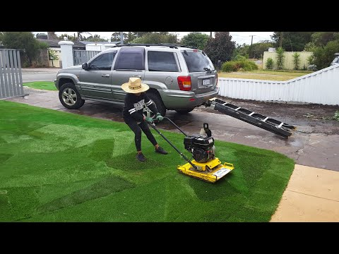 HOW-TO DIY Artificial Fake Grass Getting Ready For Recycle Reuse Landscaping /Lawns Guide