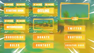 Fortnite Stream Pack Template [ + PHOTOSHOP FREE DOWNLOAD ]