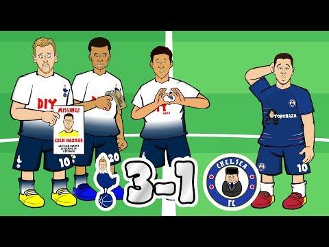⚪TOTTENHAM vs CHELSEA🔵 3-1! Glory Glory Tottenham Hotspur! (Parody Goals Highlights)