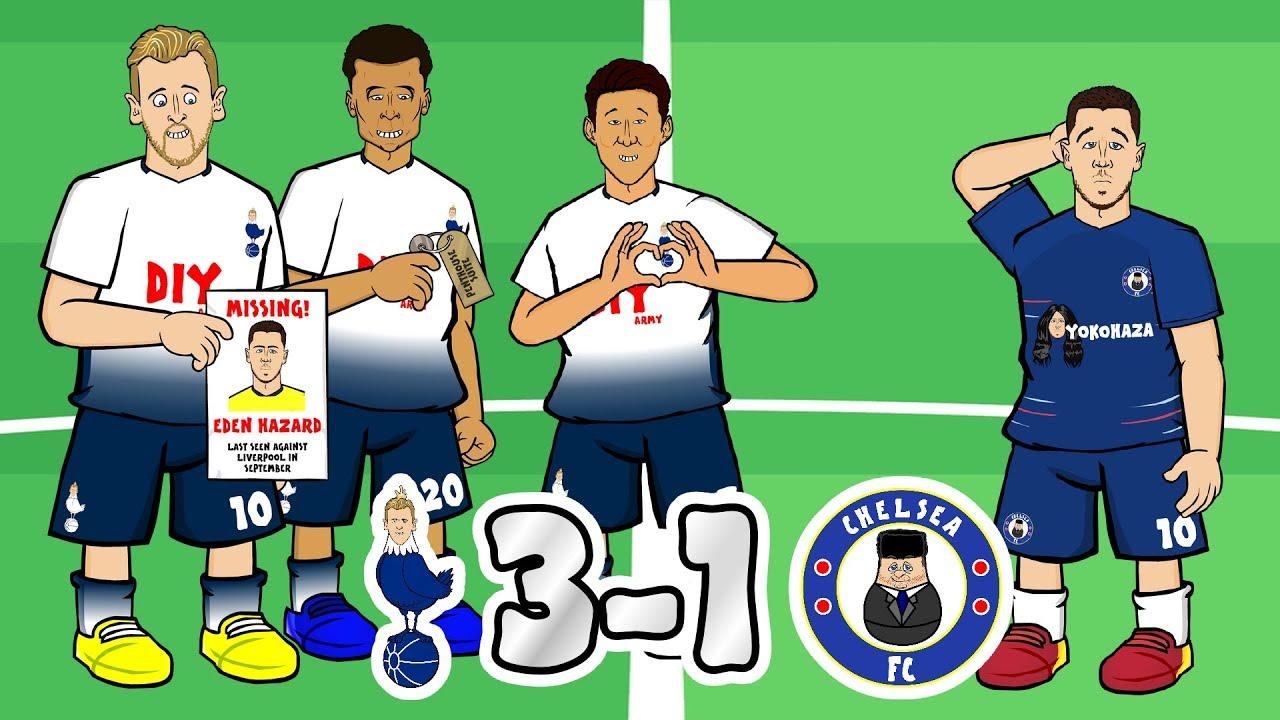 Download ⚪TOTTENHAM vs CHELSEA🔵 3-1! Glory Glory Tottenham Hotspur! (Parody Goals Highlights)