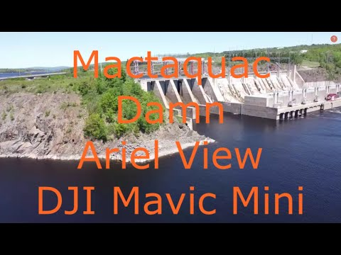 Mactaquac Hydroelectric Dam On The Saint John River Above Fredericton, New Bunswick, Canada - Drone