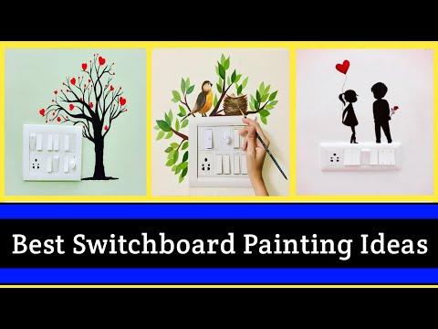 Best Switchboard Painting Ideas Diy Wall Art Design Ideas Switchboard Stickers Youtube