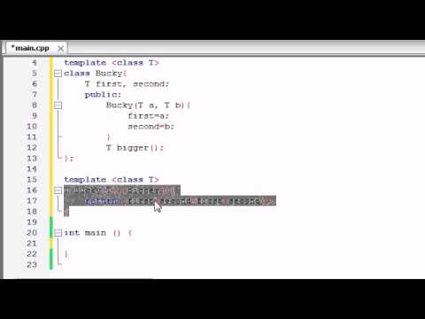 Buckys C++ Programming Tutorials - 60 - class Templates - YouTube - class template