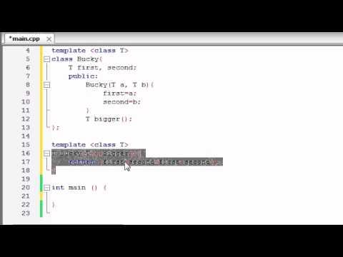 Buckys C++ Programming Tutorials - 60 - class Templates