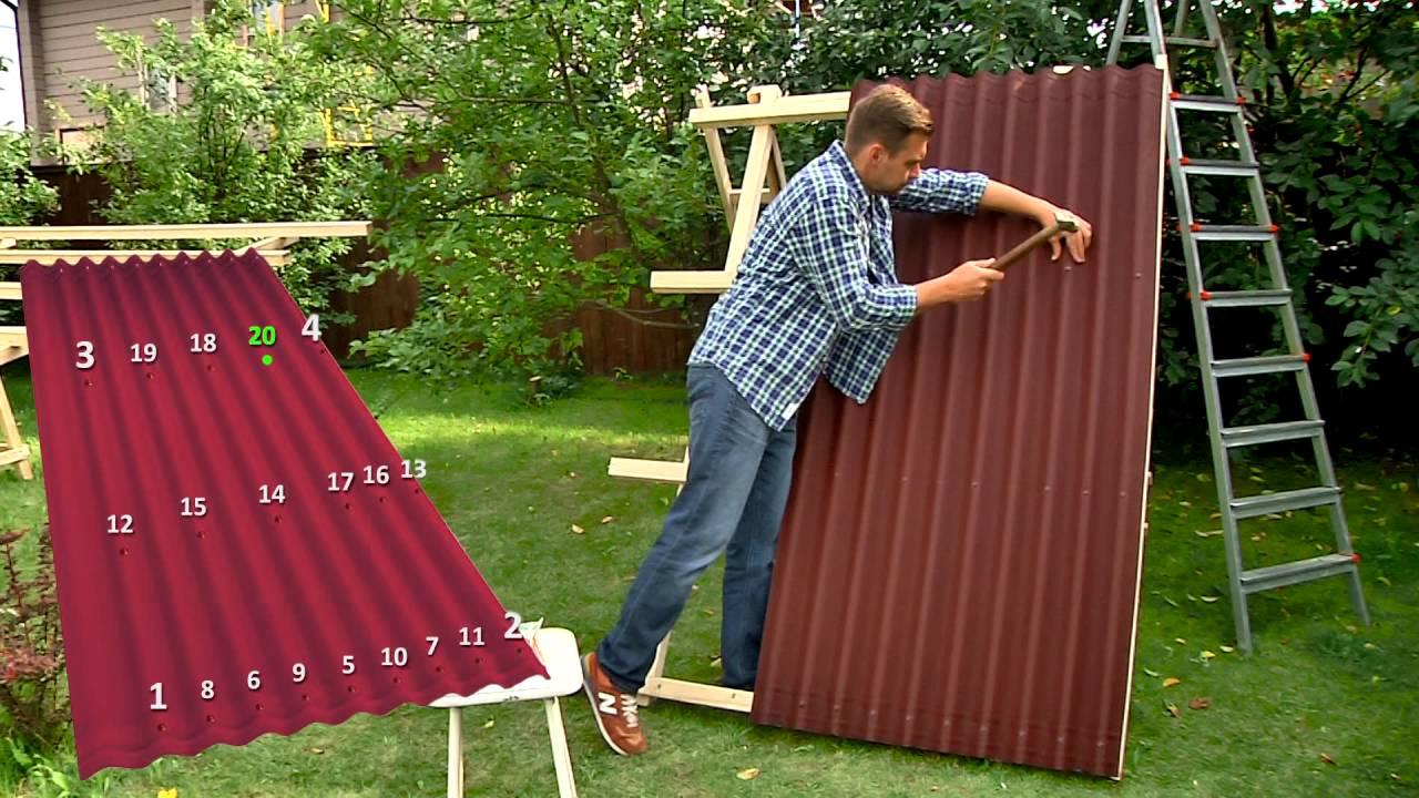 как крепится ондулин к крыше