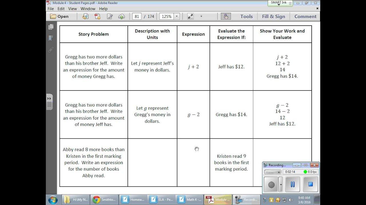 Grade 6 Module 4 Lesson 18
