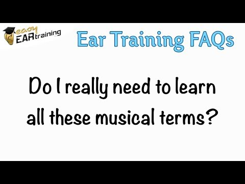 Do I have to learn musical vocabulary?