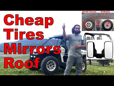 Cheap UTV Tire, Mirror, Roof Guide: How-To Install Budget Accessories On Can-Am Commander