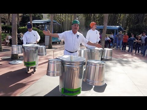 JAMMitors Trash Can Musical Group -  Future World East Epcot - Walt Disney World
