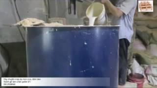 Dây chuyền sản xuất chân pallet từ mùn cưa, dăm bào
