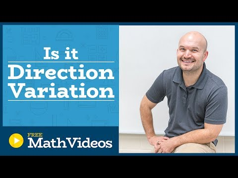 Master Determine if a given equation is an example of direct variation or not