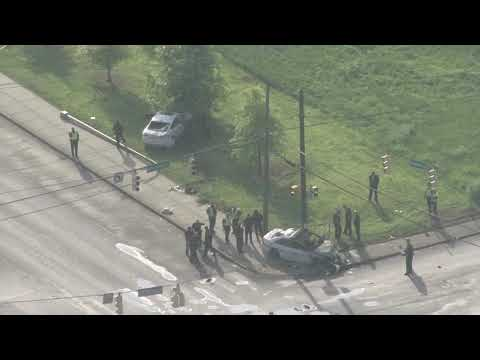 Sky5 Flies Over Scene Of MNPD Officer Crash