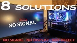 HOW TO FIX COMPUTER NO DISPLAY OR NO SIGNAL MONITOR ? 2019