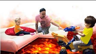 The floor is lava challenge | Super Eva