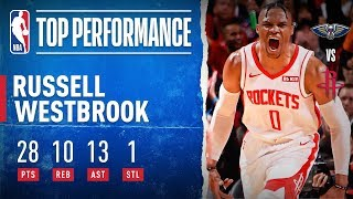 Russell Westbrook MAKES HISTORY, Moves To No. 2 ALL-TIME In Triple-Doubles | Oct. 26, 2019
