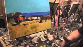 Видеоурок Сахарова Как научиться рисовать море, берег живопись для начинающих, уроки рисования