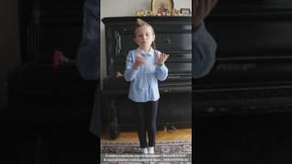 Дети читают стихи о войне. Тарасова Злата, 6 лет. Россия, Москва