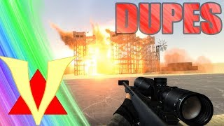 BLOWING UP MASSIVE DUPES!! Gmod Crazy Fun Dupes (Garry's Mod)