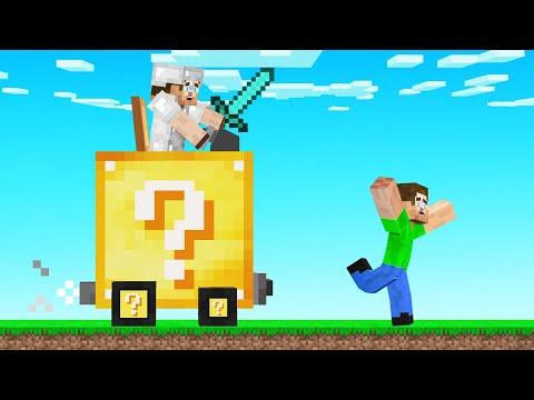Hunters VS Speedrunner With A LUCKY BLOCK CAR! (Minecraft)