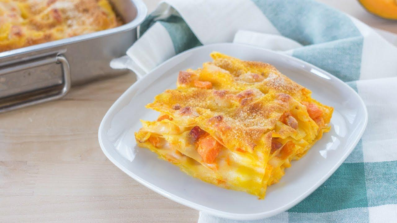 Ricetta Lasagne Di Zucca.Lasagne Alla Zucca Dell Ultimo Minuto Pronte In Mezz Ora Ricetta Facile Youtube
