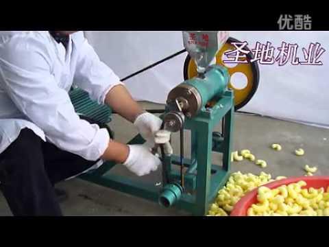 motor running maize puffed food machine, corn puffs extruder