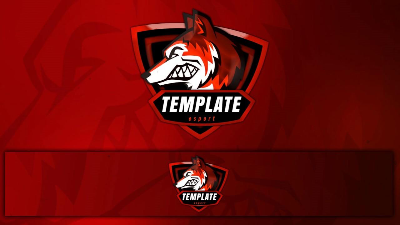 free gaming logo banner template gaming e sports clan logo psd