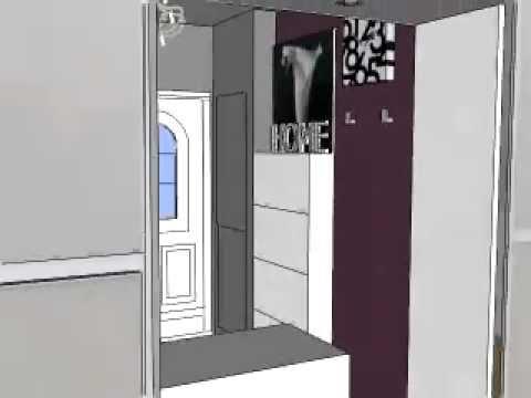 relooking d co entr e r alis avec sketchup youtube. Black Bedroom Furniture Sets. Home Design Ideas