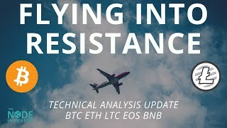 Bitcoin Price Approaching Key Resistance - Updates for BTC EOS LTC BNB and more.