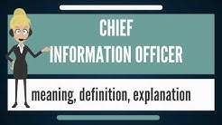 What is CHIEF INFORMATION OFFICER? What does CHIEF INFORMATION OFFICER mean?